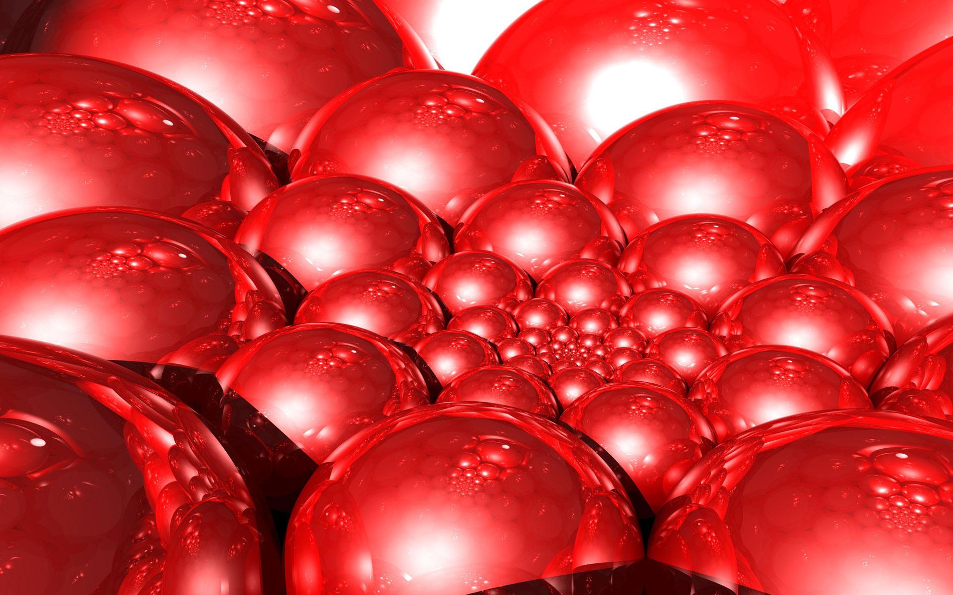 fde65b506db Широкоформатные обои Кроваво-красные шары