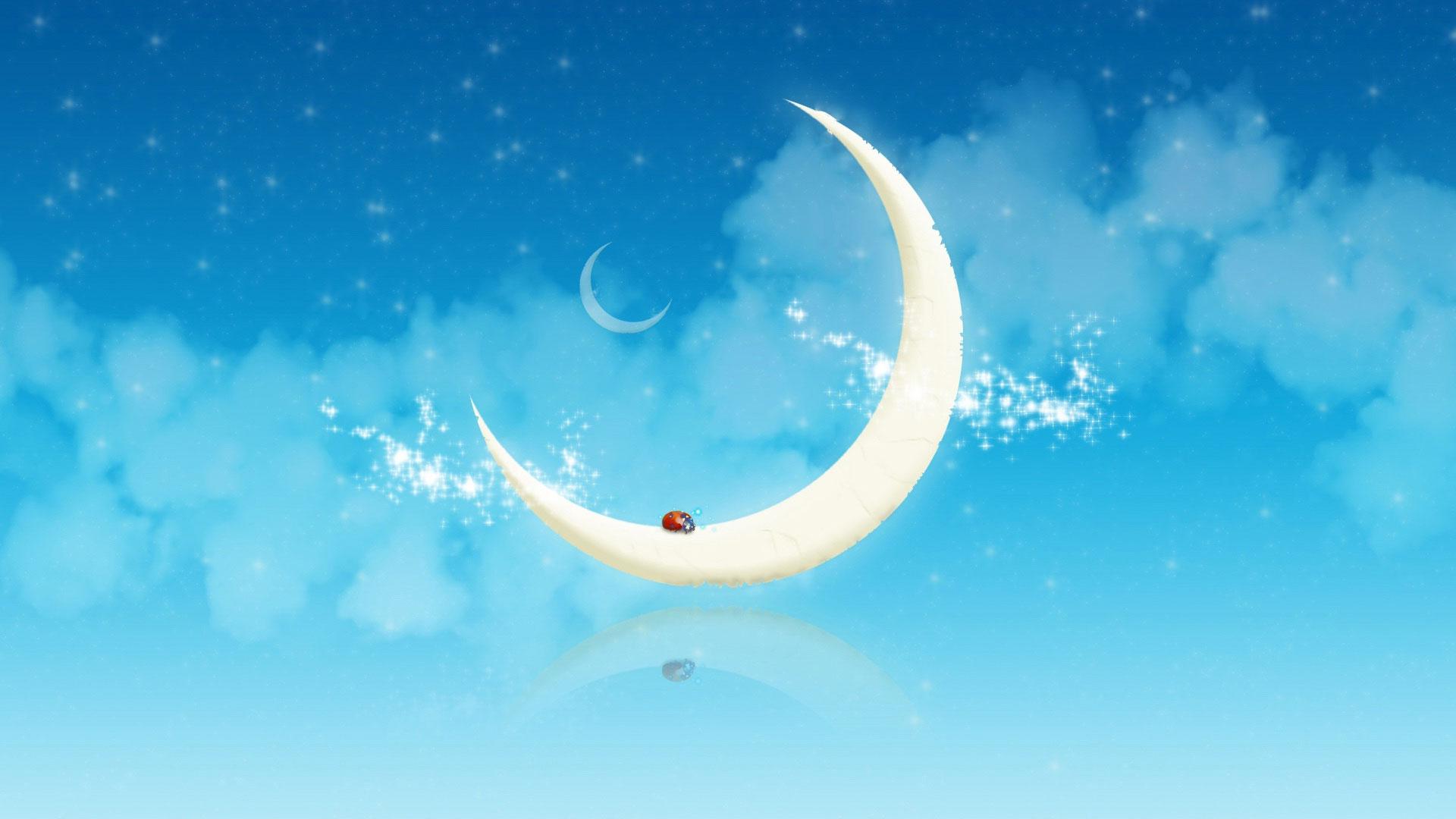 Луна нарисованные картинки