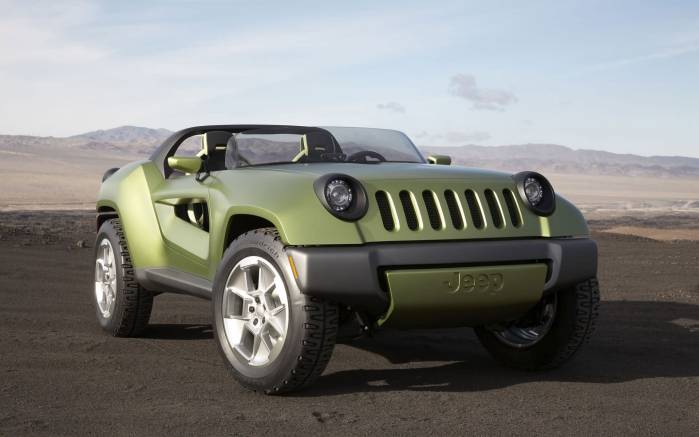 Широкоформатные обои Jeep Renegade Concept, Джип Ренегейд Концепт (Jeep Renegade Concept)