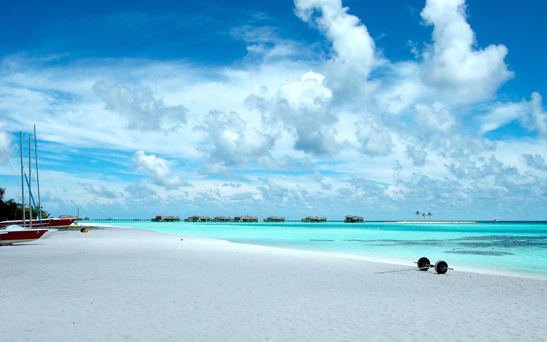 Пляж райский пляж на мальдивах