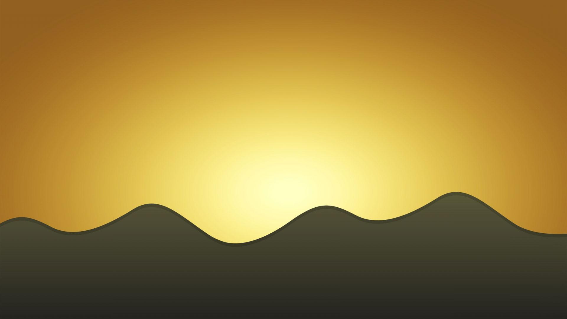Широкоформатные обои солнечные волны