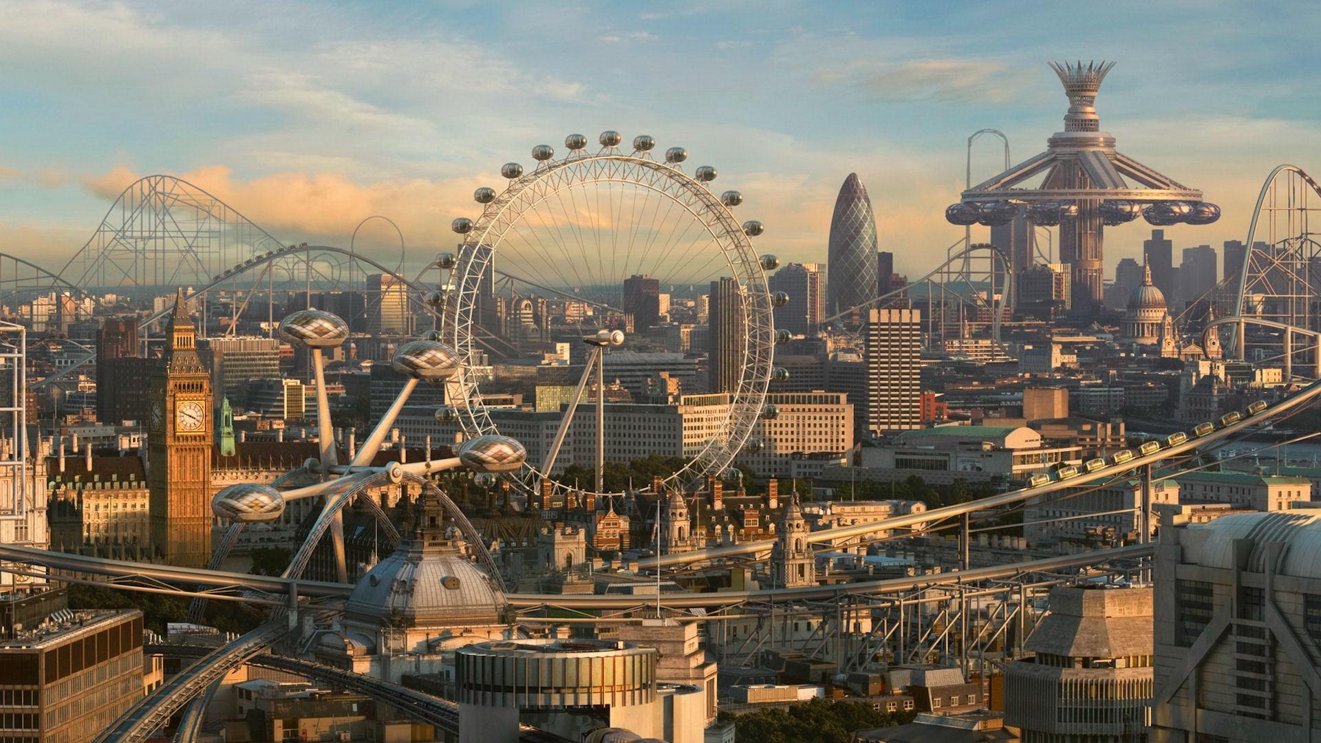 Обои город будущего картинки фото