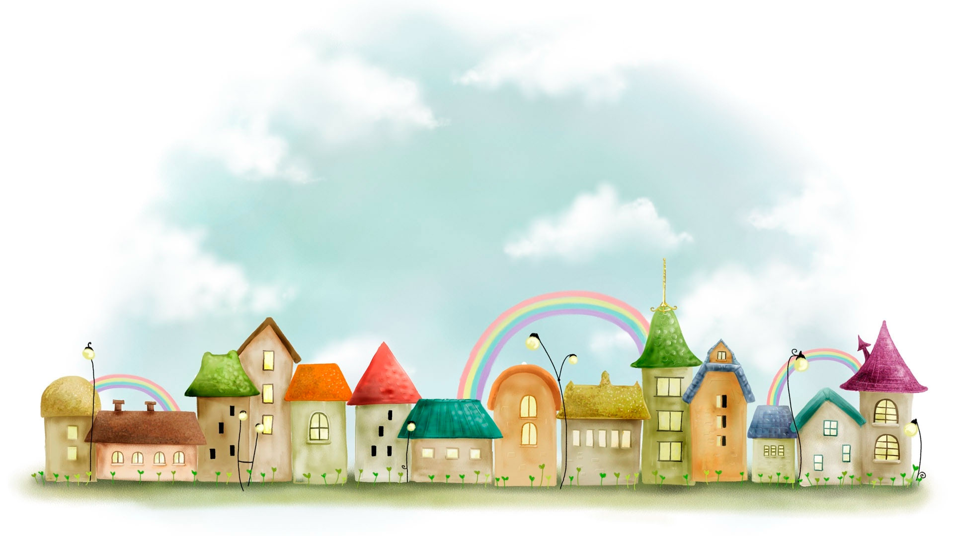 Картинки города рисованного