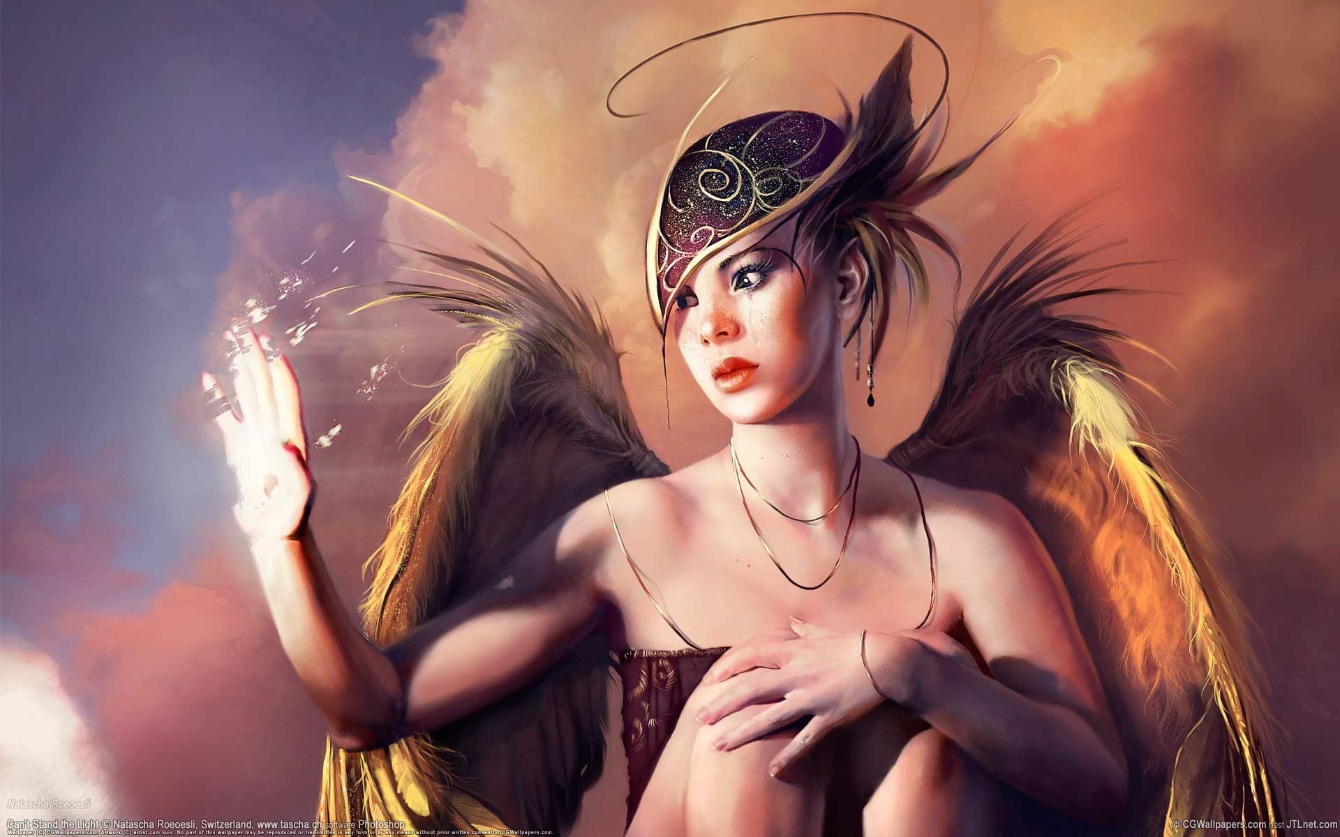 Грустный ангел девушка ангел